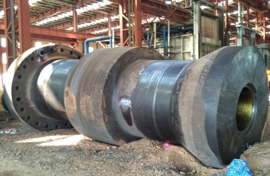 110吨水轮发电机主轴